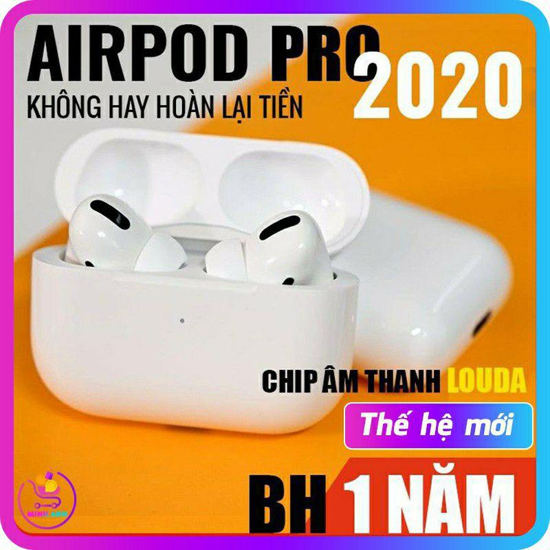Tai Nghe Không Dây Airpods 2 Pro TWS Full Chức Năng, Sạc Không Dây, Định Vị - Đổi Tên - XUYÊN ÂM & CHỐNG ỒN 2021
