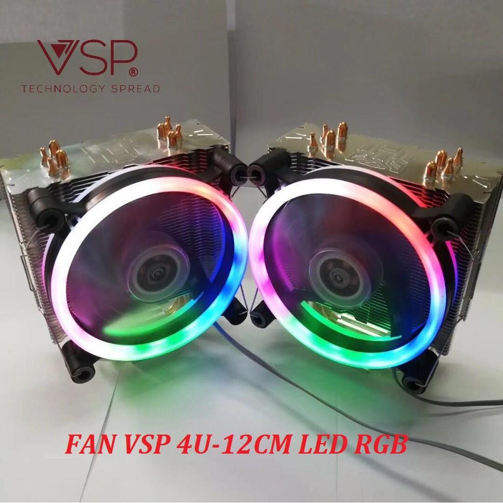 Google [linh kiện] fan tản nhiệt fan cpu VSP-4U-12cm RGB LED(hổ trợ đa socket intel & AMD [máy tính] aidien2017