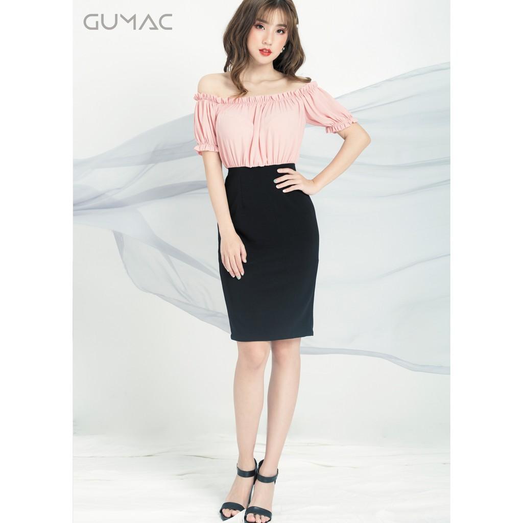 Đầm bẹt vai GUMAC MS04923