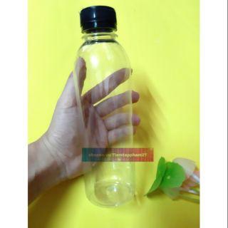 Chai nắp đen 330ml chiết hoặc đựng nguyên liệu slime