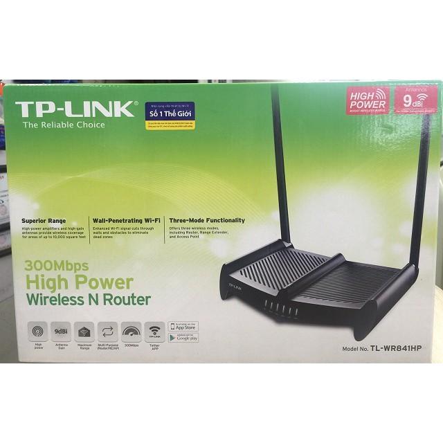 [Mã 267ELSALE hoàn 7% đơn 300K] TP-Link TL-WR841HP (Anten 9db) xuyên tường