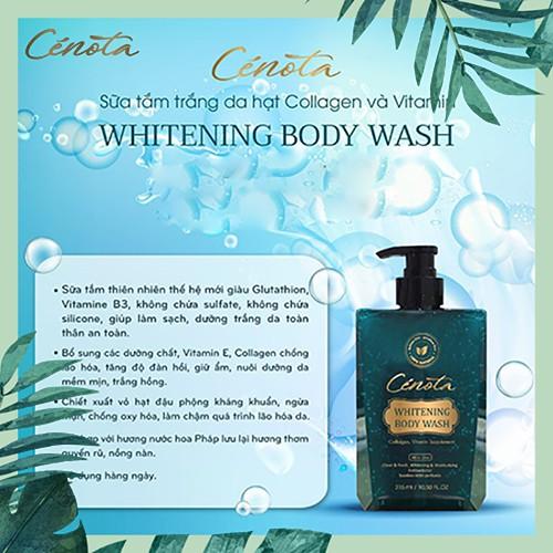 Sữa tắm trắng da hạt Collagen và Vitamin Whitening Body Wash, sữa tắm dưỡng ẩm Mã C01 Lici