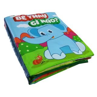 Sách vải tương tác cho trẻ Pipo – Bé thấy gì nào