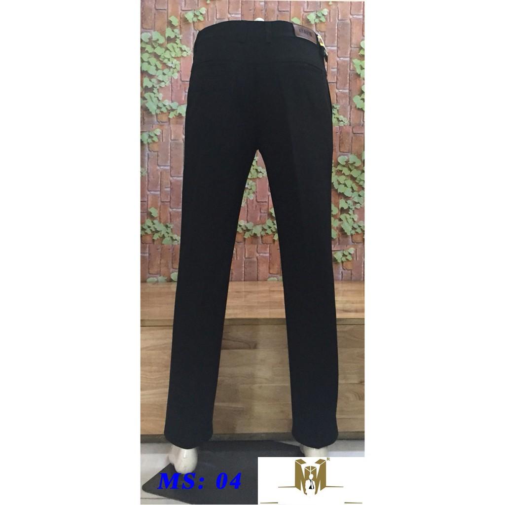 Quần kaki trung niên ống rộng ms  màu đen
