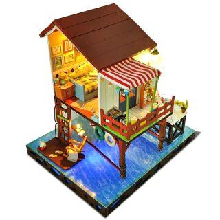 Mô hình nhà gỗ búp bê dollhouse DIY – TC3 Summer Sunset Sky
