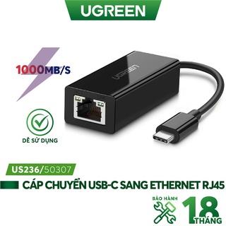 Cáp chuyển đổi USB type C sang đầu mạng Ethernet RJ45 Gigabit UGREEN 50307 - Hàng phân phối chính hãng thumbnail