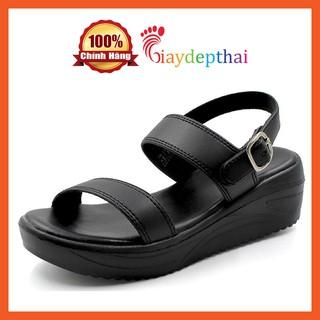 Giày Sandal nữ đế xuồng cao 5p Thái Lan mossono YW570 (đen) thumbnail