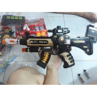Đồ chơi súng sử dụng pin phát sáng sống động