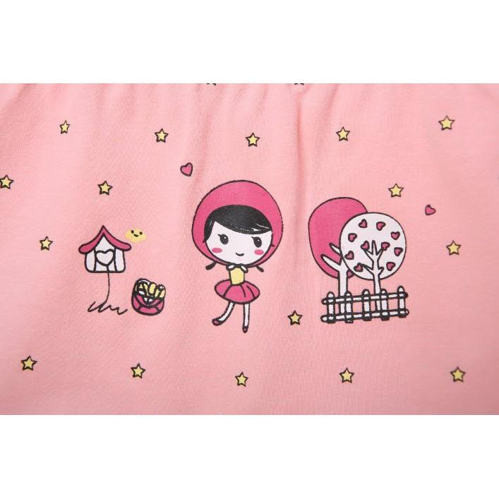 Quần Chíp Bé Gái,Quần Lót Bé Gái Set 4 Chiếc Kháng Khuẩn 100% Cotton hàng Xuất Hàn Quốc Dành Cho Bé gái MINKHI 126007