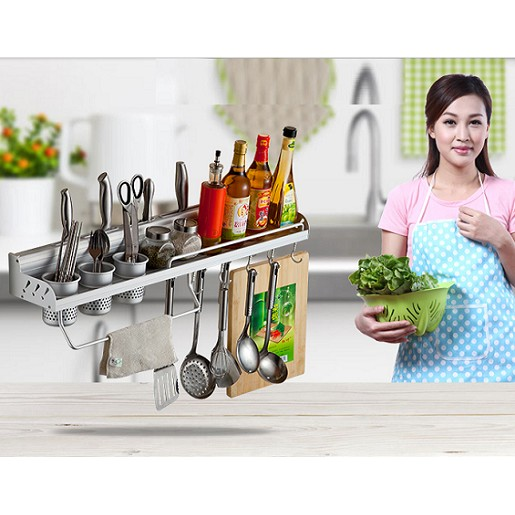 Giá treo đồ nhà bếp đa năng 3 ống 70cm
