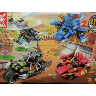 Lego Ninja tenma 4in1 chiến cơ và siêu xe -mã sp TM 6308