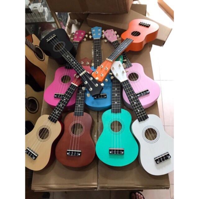 Combo 2 đàn ukulele soprano 21inch nhiều màu sắc