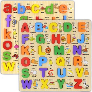 Language Educational Wooden Toys For Children Letter Scrabble,B