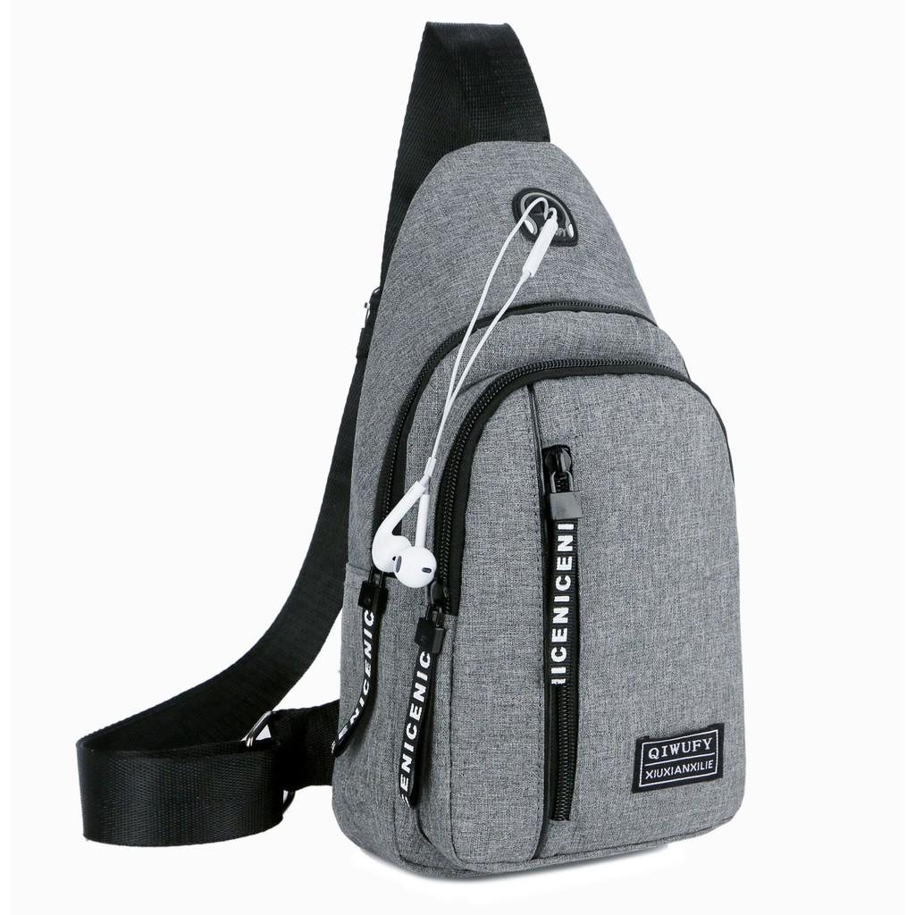 Túi đeo chéo nam vải bố TX 9125