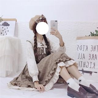 (Có sẵn) Váy babydoll mori girl phong cách Nhật Bản