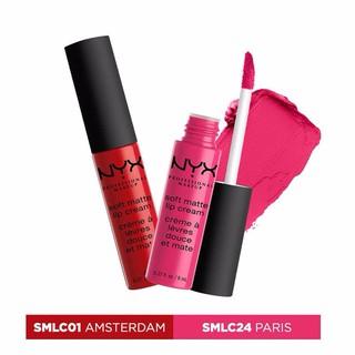 Bộ 2 Son Kem chính hãng NYX Soft Matte Lipcream Paris & Amsterdam thumbnail