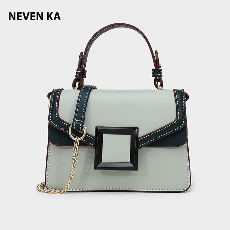 Túi xách tay nữ thương hiệu NEVENKA khóa vuông sang chảnh N58551