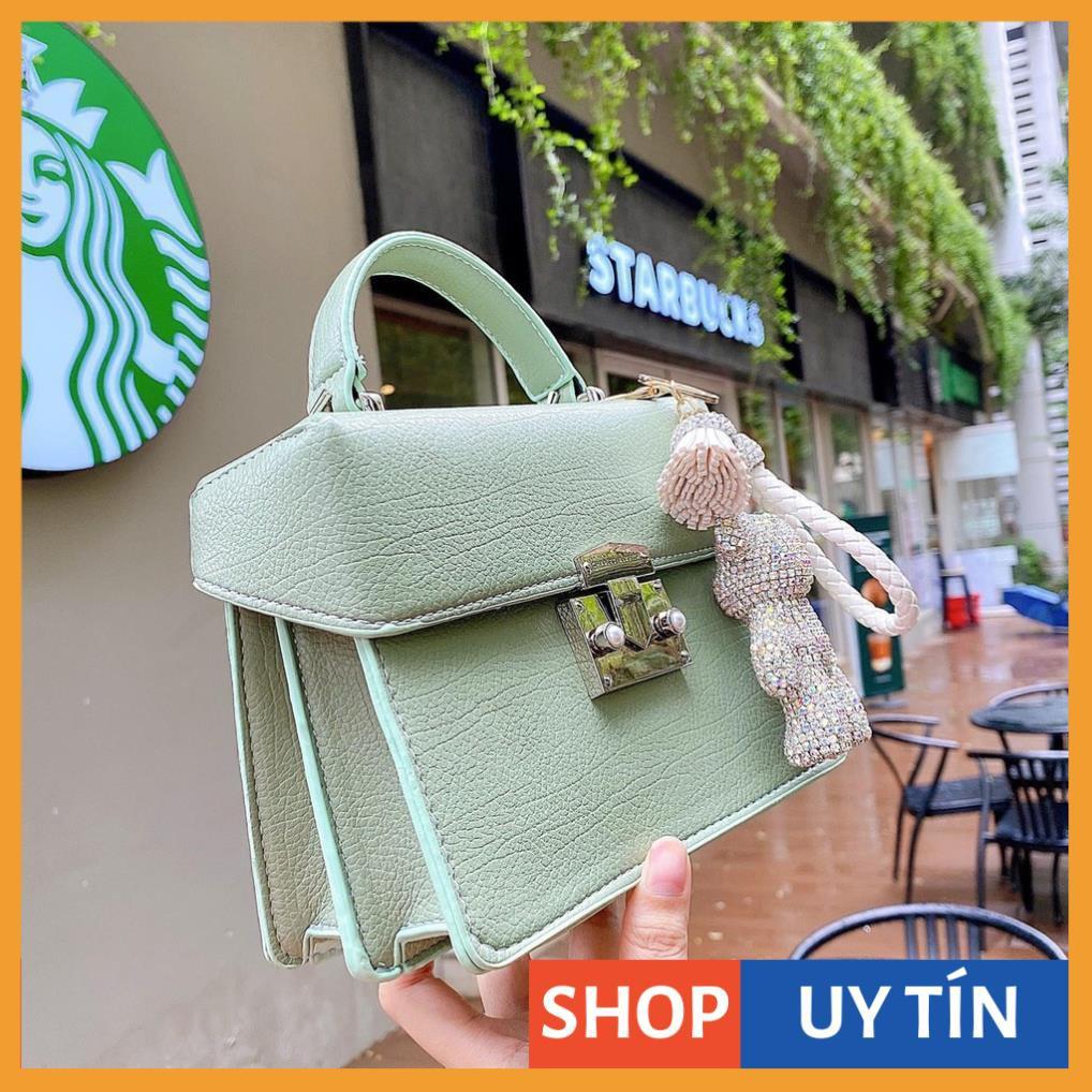Túi xách nữ Ngọc trinh túi hộp sang trọng mẫu mới (không kèm gấu)  CKHOP01