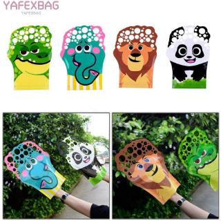Promotion hot sales Cartoon Pattern Palm Bubble Toy Colorful Bubble Blowing Glove For Kid Gift