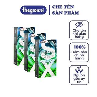 Bcs Sagami Spearmint bao cao su siêu mỏng 3 hộp 10c hương bạc hà nhiều gel bôi trơn không mùi có che tên - thegi thumbnail