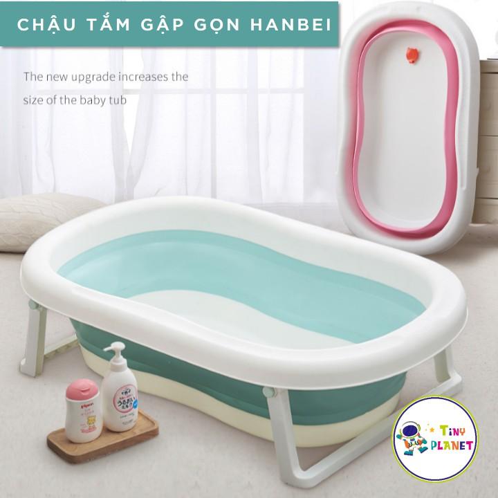 Chậu tắm gập gọn HANBEI cho bé (có combo kèm phao tắm)