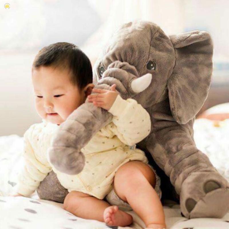 [Bán hết]Voi Bông màu xám cực cute ngộ ngĩnh nâng giấc ngủ êm cho bé