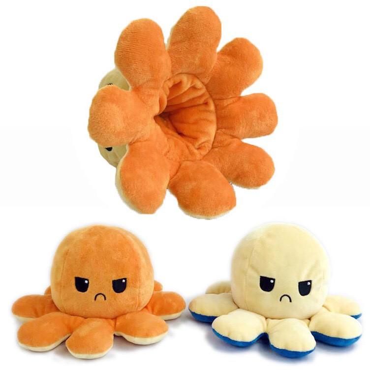Gấu bông bạch tuộc cảm xúc hai mặt xinh xắn nhiều màu