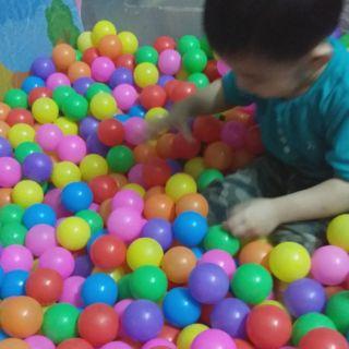 100 bóng nhựa 5cm Đa màu sắc cho bé