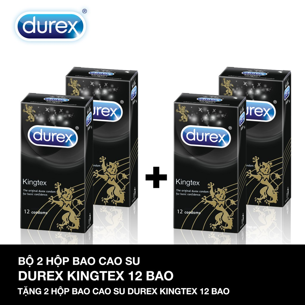 Bộ 2 Bao cao su Durex Kingtex 12 bao + Tặng 2 hộp cùng loại - 3120468 , 1037173950 , 322_1037173950 , 416000 , Bo-2-Bao-cao-su-Durex-Kingtex-12-bao-Tang-2-hop-cung-loai-322_1037173950 , shopee.vn , Bộ 2 Bao cao su Durex Kingtex 12 bao + Tặng 2 hộp cùng loại