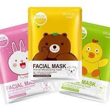 Combo 10 miếng mặt nạ dưỡng da Facial Mask (Gấu Vịt Thỏ) Bioaqua