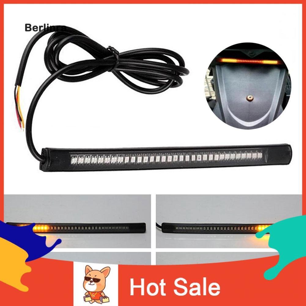 ●BE Flexible 48 LED 2835 3014 SMD Motorcycle Light Strip Turn Signal Brake Lamp
