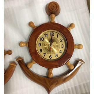 Đồng hồ mỏ neo gỗ cẩm tự nhiên 50cm