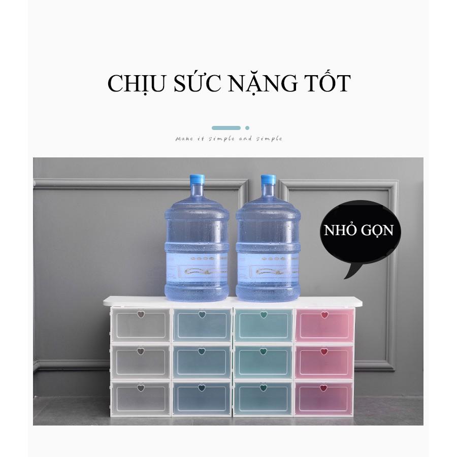 Hộp Đựng Giày ⭐Nắp Nhựa Cứng Thông Minh Cao Cấp Trong Suốt Nam Nữ Việt Nhật Hàng