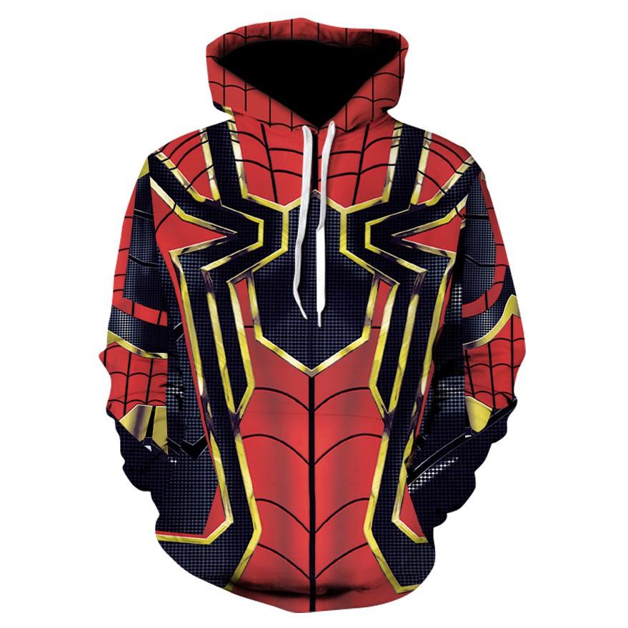 Áo nam chui đầu Spider Man  - Áo khoác nỉ - Áo khoác ấm Áo khoác nỉ
