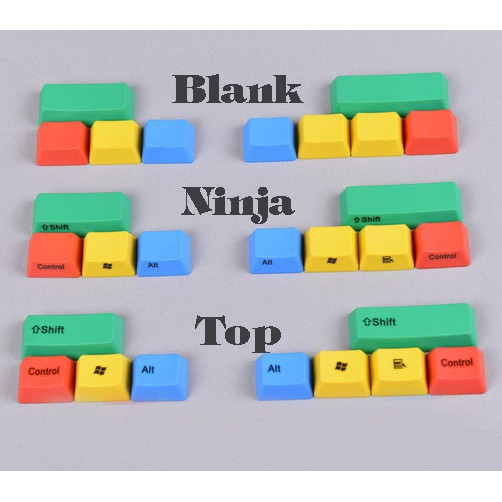 Bộ Keycap PBT RGBY 10 phím khắc Lazer