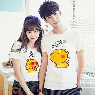 Áo Thun cặp Nam-Nữ in CẶP NAM NỮ cực dễ thương , thích hợp cho các cặp đôi trẻ trung