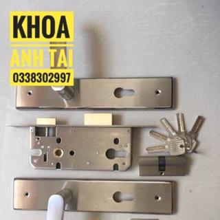 Khóa tay gạt SS5810 và SS8510 inox 304 chuẩn cải tiến lõi khóa bằng inox