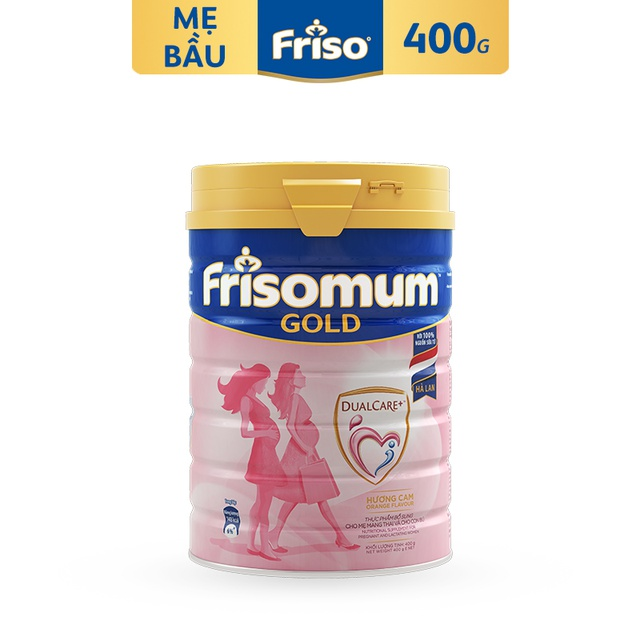 [Nhập MKBMFCV35 giảm 35K đơn 599K] Sữa bột FRISOMUM GOLD Hương ORANGE 400G