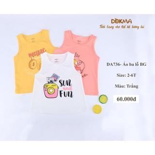 Áo sát nách bé gái DOKMA DA736, áo ba lỗ bé gái 2-6 tuổi