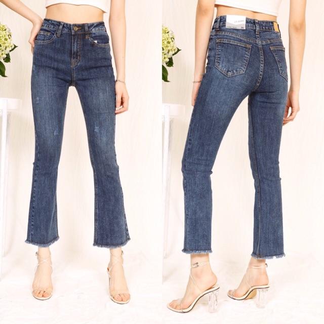 Quần jeans ống Vẩy Wash đá !