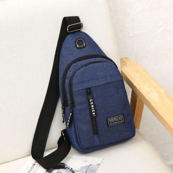 Túi đeo chéo nam vải canvas chống nước 3 ngăn phong cách Hàn Quốc - Túi chéo nam TC92