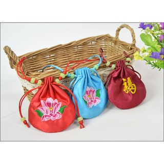 Túi thêu hoa hà bao thêu hoa túi đeo cổ phụ kiện thời trang thiết kế độc đáo phong cách cổ trang cổ điển