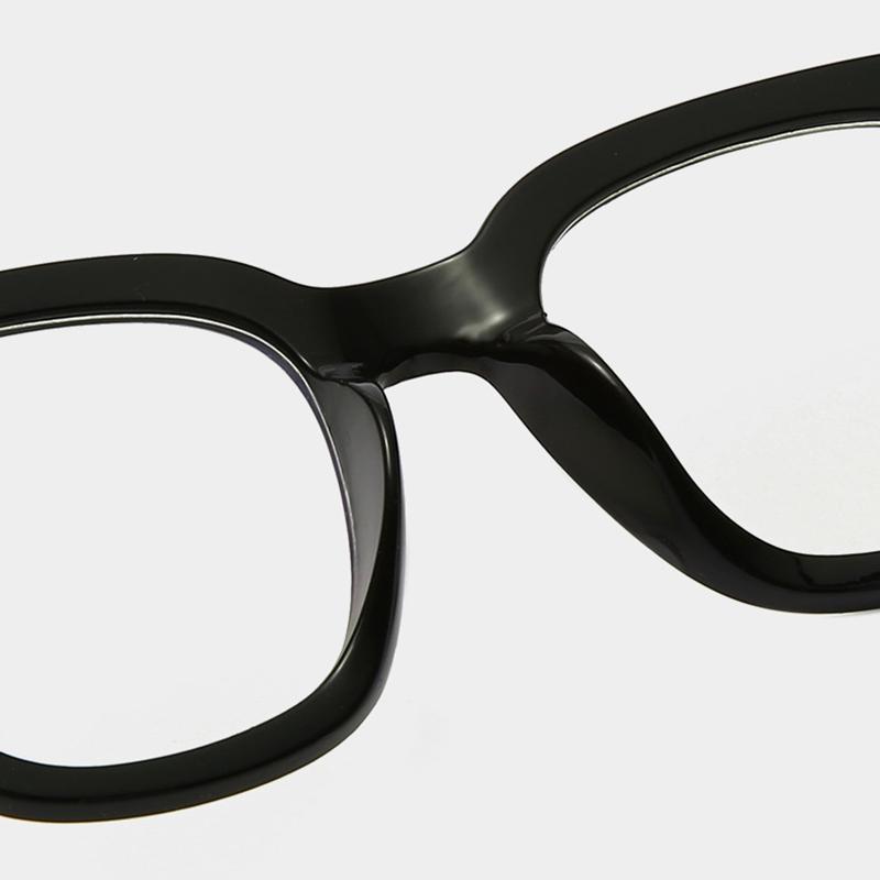 Mắt kính gọng vuông màu trong suốt thời trang phong cách cổ điển