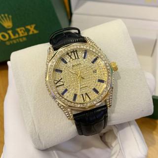 Đồng hồ nam RL đính full đá máy pin dây da cao cấp DH515 shop106