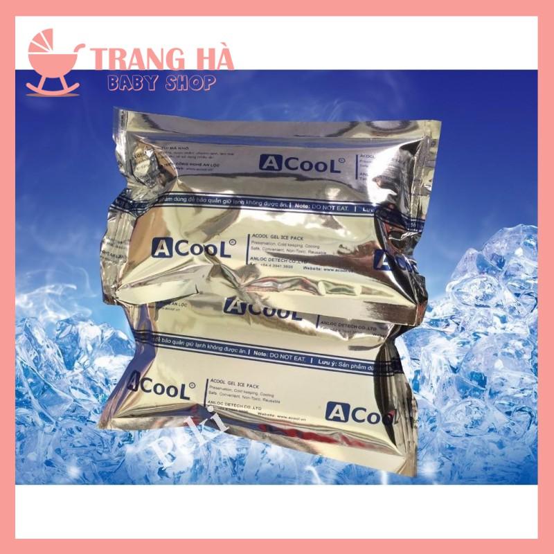 Đá khô giữ nhiệt Acool dạng gel túi tráng bạc - Dùng bảo quản lạnh thực phẩm, đồ uống, sữa mẹ