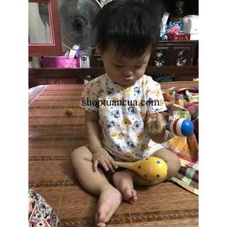 Xúc xắc gỗ đầu tròn cho trẻ em(SL1) – CHẤT LƯỢNG CAO