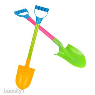 Childrens Mini Sand Spade Tools Beach Sandpit Holiday Toy Pack of 2 Pcs