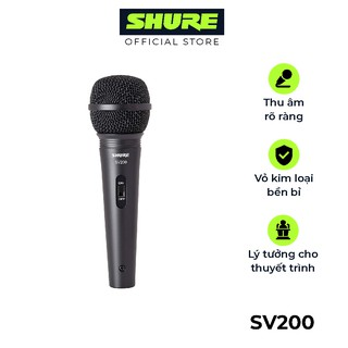 Micro Shure SV200-Q-X - Hàng chính hãng - Micro karaoke & thu âm đa năng có dây của Shure: chất lượng cao cấp giá tốt