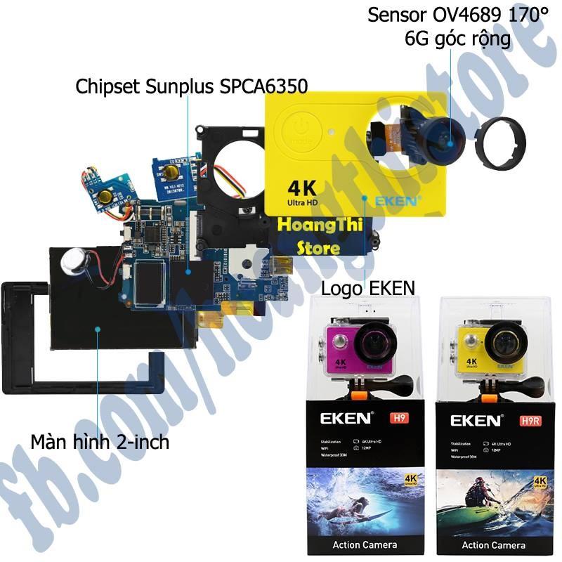 ✔️ Camera Eken h9r bản v9 20MP 4k 30fps wifi remote. Camera phượt hành động trình thể thao h9r v8 v7.0 - Hàng chính hãng