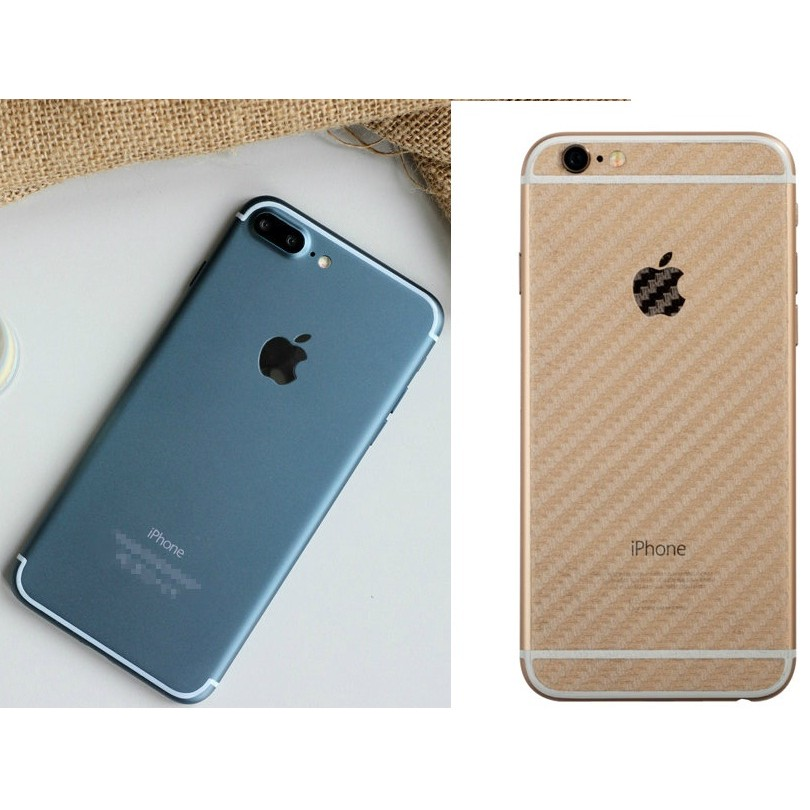 Dán lưng iPhone 7 carbon trong suốt